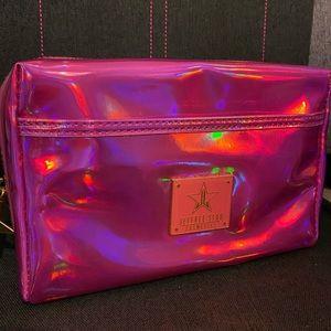 Pink Holo Makeup Bag